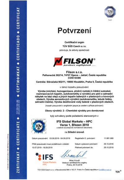 Filson TÜV IFS Global Markets - HPC 2018